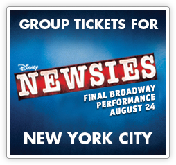 Group Tickets for Newsies in New York City
