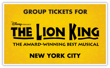 Group Tickets for The Lion King in New York City
